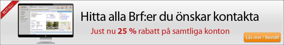 Kontaktuppgifter till alla Brf:er online - Hittabrf.se